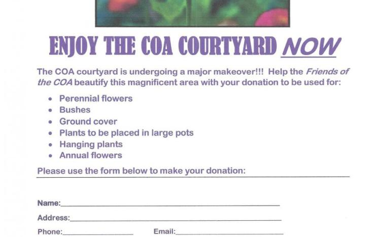 Be part of The Friends of the Lakeville COA Courtyard makeover