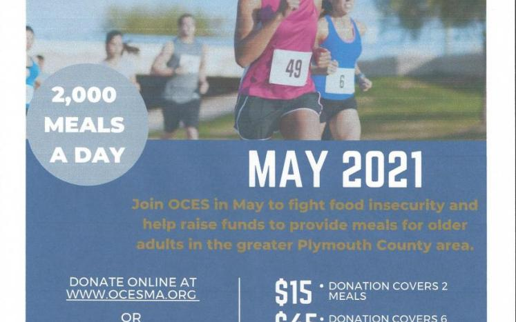 OCES virtual 5K Fundraiser for Meals on Wheels & Boxed lunches for Seniors